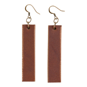 Leather Bar Earrings