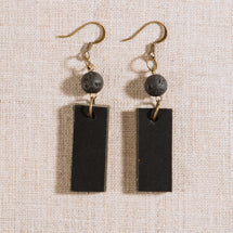 Lava & Leather Oil Diffusing Earrings