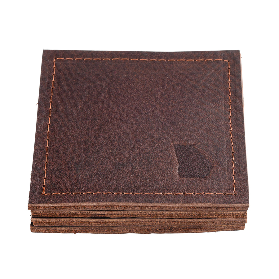 Georgia Leather Coaster