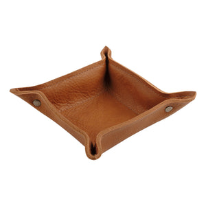 Leather Change Tray in Butterscotch