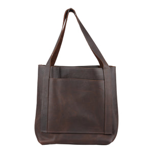 Chocolate Brown Leather Tote