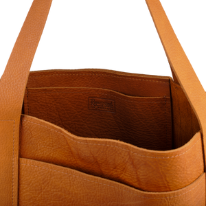 Leather Tote in Butterscotch