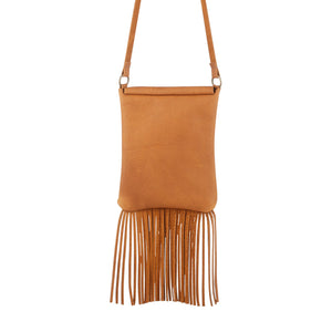 Leather Fringe Crossbody Purse