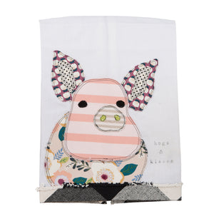 Hogs & Kisses Tea Towel