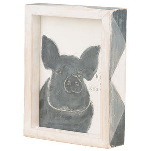 Hogs & Kisses Framed Board