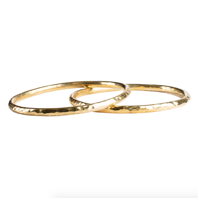 Hammered Brass Bangles (single)