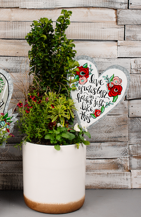Love Grows Garden Stake