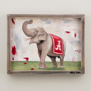 Alabama Elephant Framed Canvas