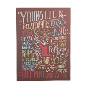 Young Life Canvas 27x20
