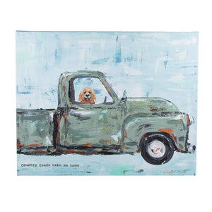 Country Roads Truck Canvas