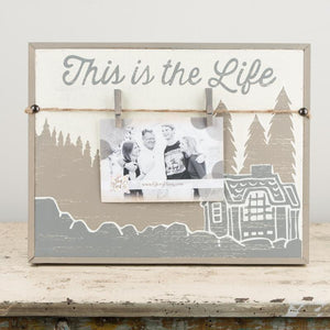 This is the Life Clothespin Clip Frame