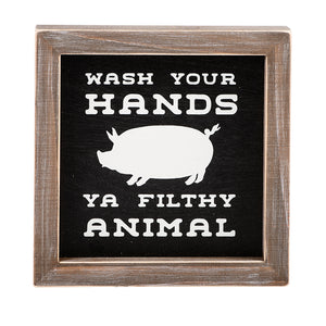 Wash Your Hands Framed Board