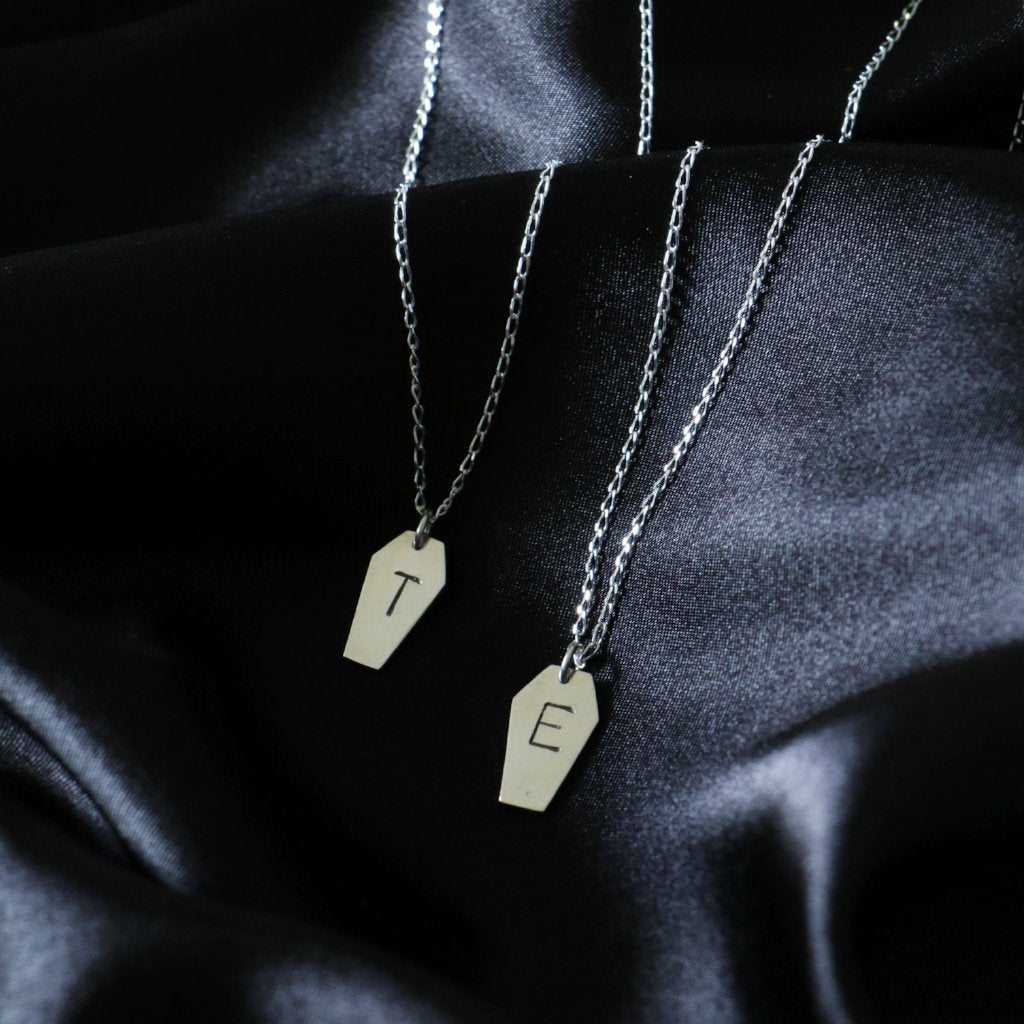 Til Death Coffin Necklace Set