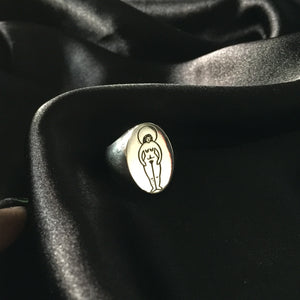 Sister Silver Signet Ring