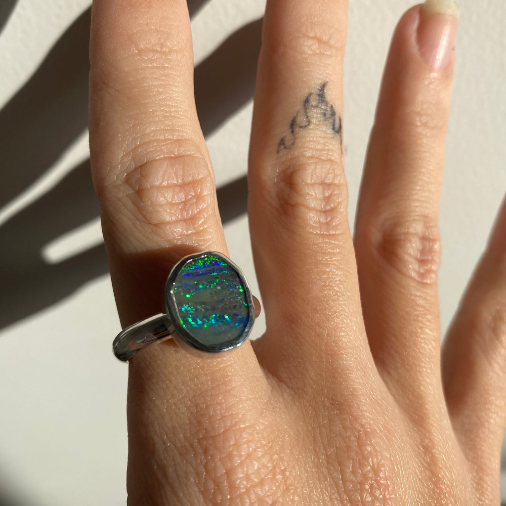 Opal Ring - Size S (9.5)