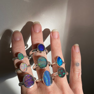 Opal Ring - Size O (7.5)
