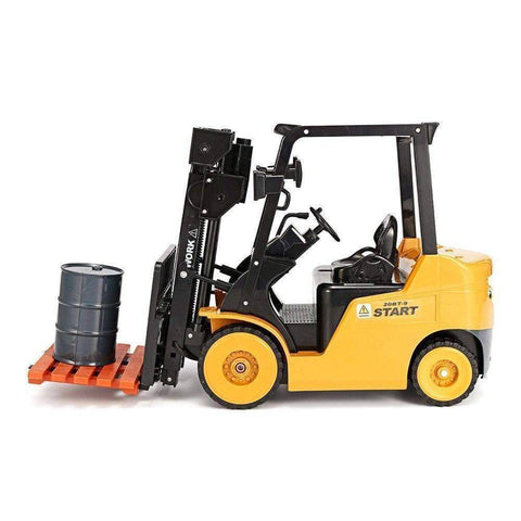 1:10 Big Scale Metal 2-In-1 Rc Forklift Truck/crane Rtr Cars