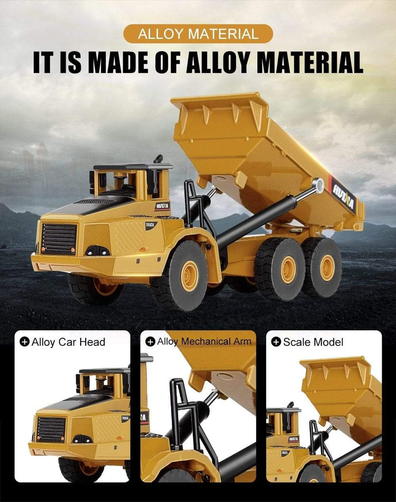 1:50 Alloy Articulated Dump Truck Model Diecasts & Toy Vehicles