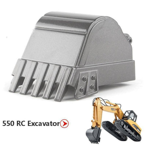 Image of Huina 350-550-560-570 Rc Excavator Accessories 550 Alloy Bucket Parts &
