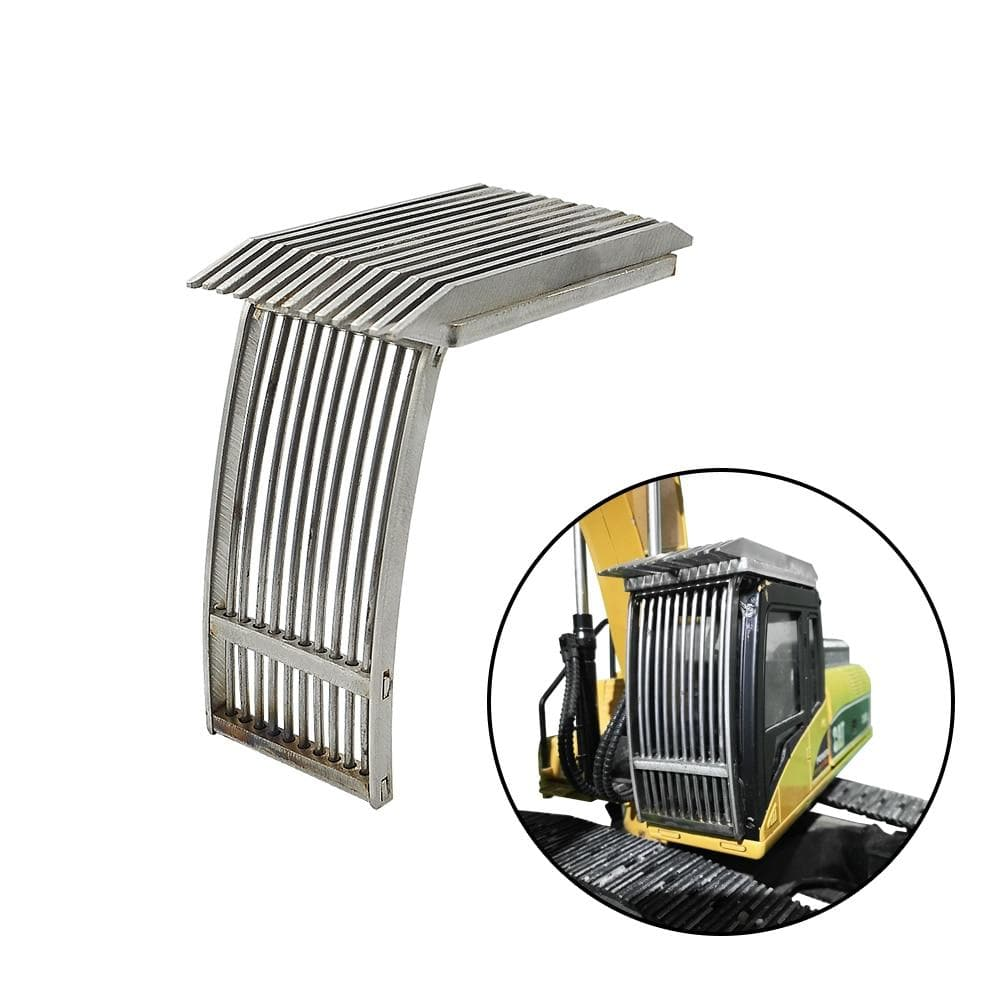 Driving Cab Simulate Protective Net Cover Full Metal For Huina 1580 1/14 Rc Hydraulic Excavator