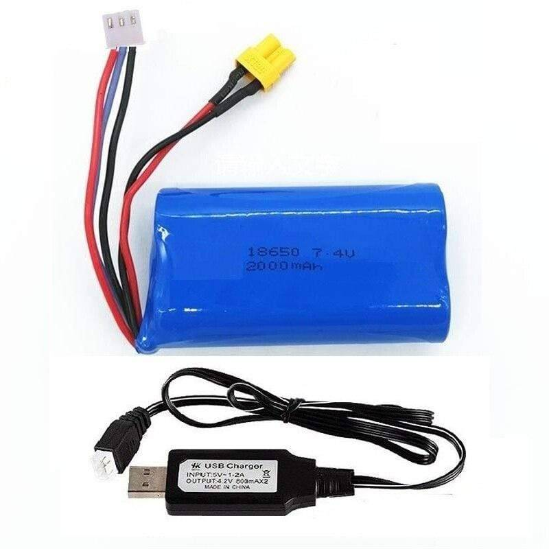 Huina 580 Rc Excavator & 583 Loader - 7.4 V 2000Mah Battery