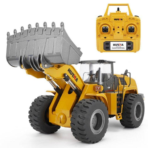 Image of Large Advanced Steel Rc Loader (Huina 583) Trucks
