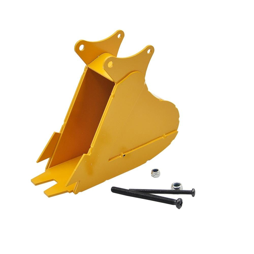 Small Trench Bucket Full Metal For Huina 1550 1580 1592 Excavator 1/14 Rc Trenching Parts &