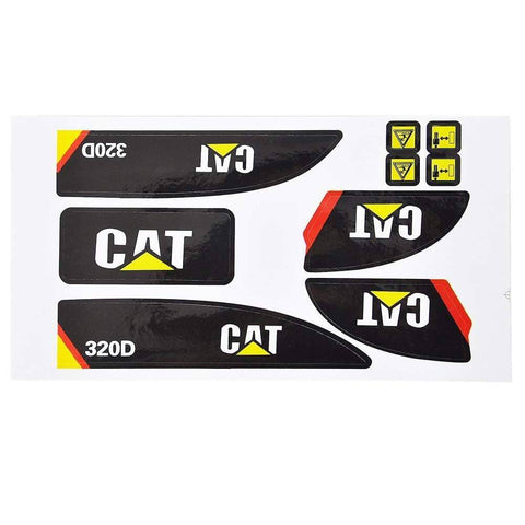 Sticker Set For Huina 550 1550 15 Channel 2.4G 1:14 Rc Metal Excavator Parts & Accessories
