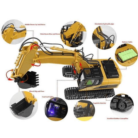 Image of Rc Excavator (Huina 550) Machinery