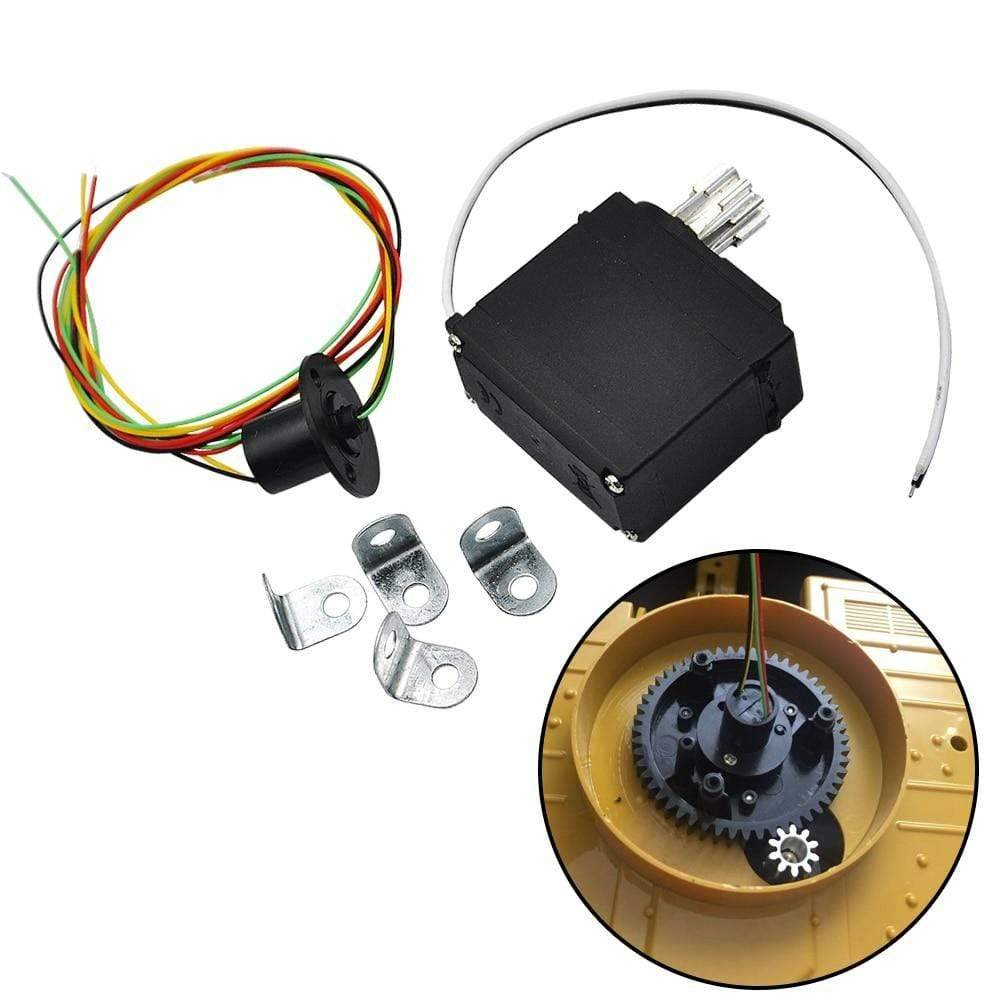 Upgrade Metal Drive Gear With Rotary Motor Set For Huina 1550 15Ch 2.4G 1:14 Rc Excavator Parts &