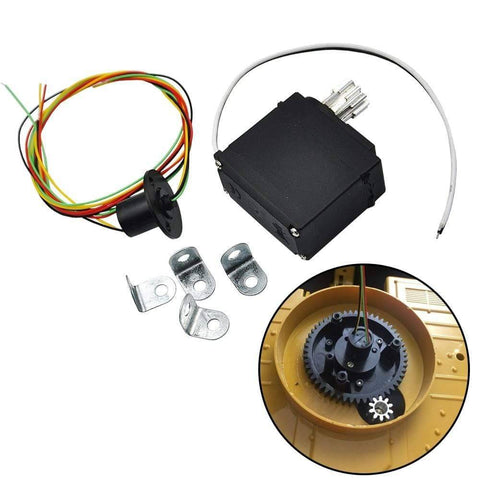 Image of Upgrade Metal Drive Gear With Rotary Motor Set For Huina 1550 15Ch 2.4G 1:14 Rc Excavator Parts &