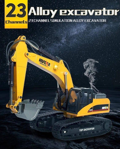 Image of Huina 1580 23 Channel Alloy Excavator Version 4 - RADIO CONTROLLED MODEL EXCAVATOR