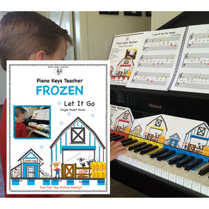 NEW! Piano Keys Teacher Combo Set - Frozen (Download 2 Songs)