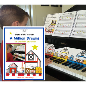 NEW! Piano Keys Teacher Combo Set - Million Dreams (Download)