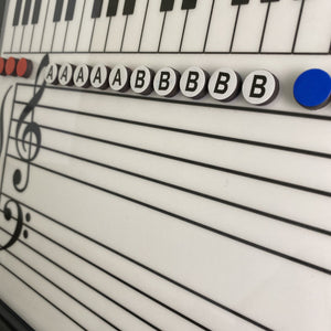 Music Alphabet Magnets (Additional or Replacement Magnets for the Grand Staff Dry Erase Magnetic Board))