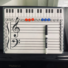 Load image into Gallery viewer, Music Alphabet Magnets (Additional or Replacement Magnets for the Grand Staff Dry Erase Magnetic Board))