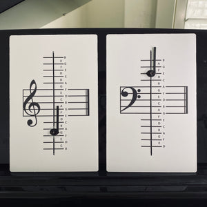 Music Ledger Lines Teacher (All-In-One Flashcard)