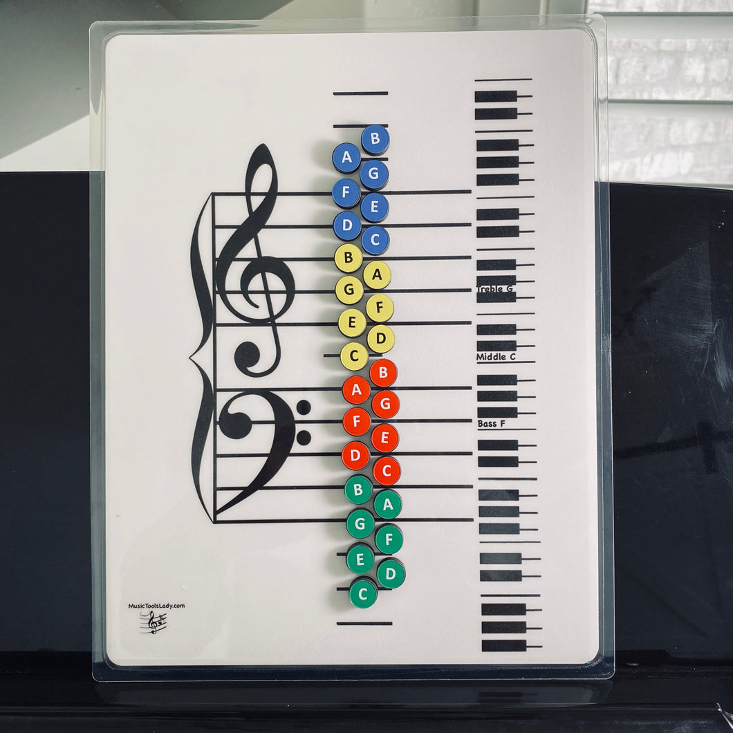 I Can Learn Music Notes!  (Magnetic Board and Note Magnets ONLY)