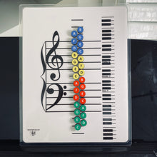 Load image into Gallery viewer, Piano Keys Teacher- I Can Learn Music Notes Magnets