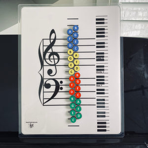 Piano Keys Teacher- I Can Learn Music Notes Magnets