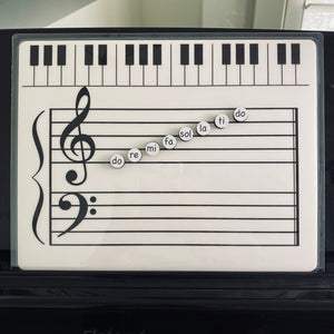 Solfege Magnets (Additional Magnets to the Grand Staff Dry Erase Magnetic Board)