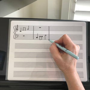 Music Composition and Dictation Dry Erase Board