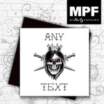 Personalised 'My King' - Hand made tattoo skull style card