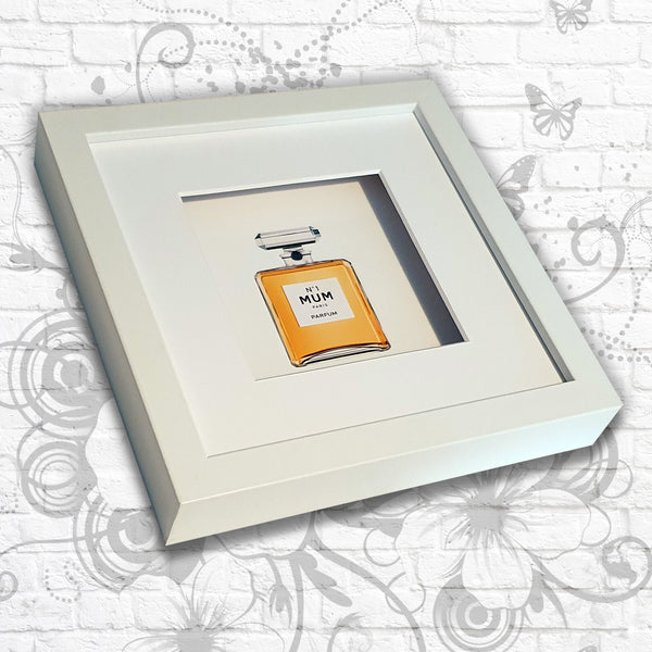 Perfume Print 'No.1' Sister/Mum/Daughter Art Box Frame (Gold)