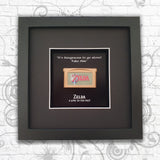 Zelda 'A Link to the Past' Gold GameBoy Advance Cartridge Art Frame