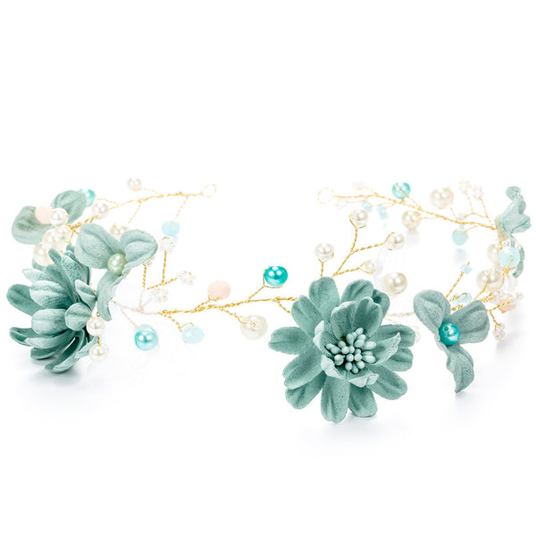 Turquoise Flower Crown – Swag Grab Store 166f13bdbe8