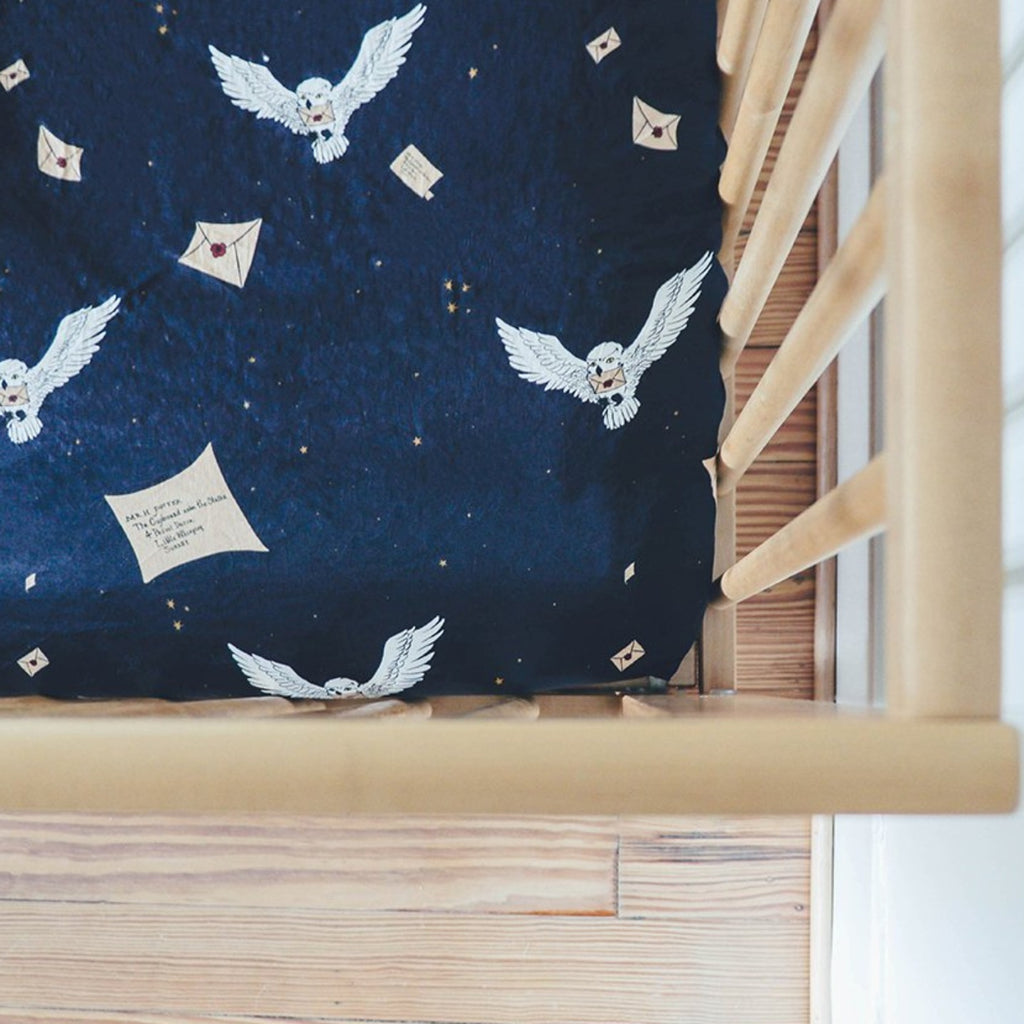 Harry's Owl Fitted Crib Sheet