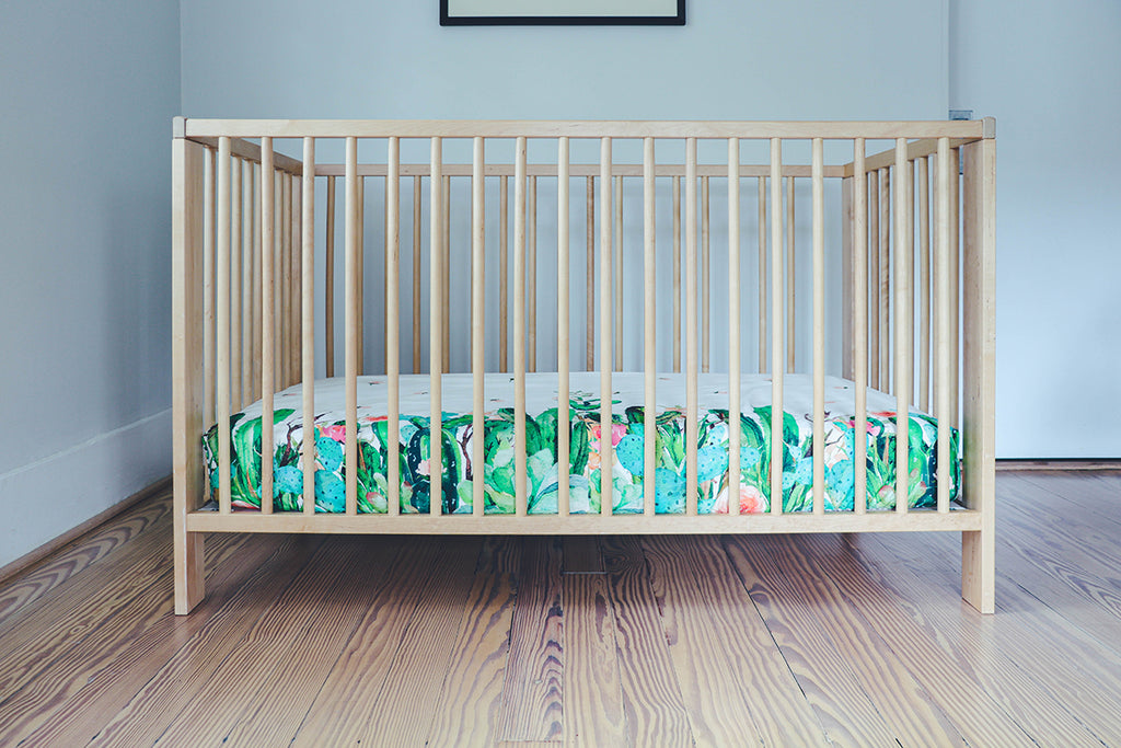 Cactus Vine Fitted Crib Sheet