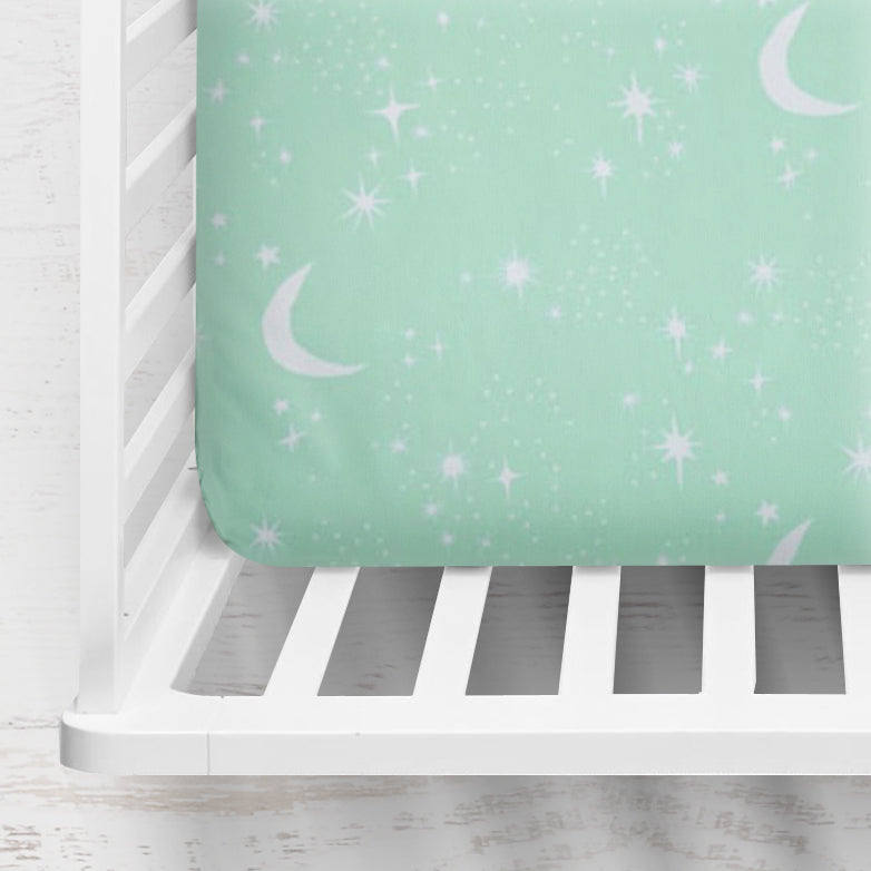 Twinkly Phases Fitted Crib Sheet