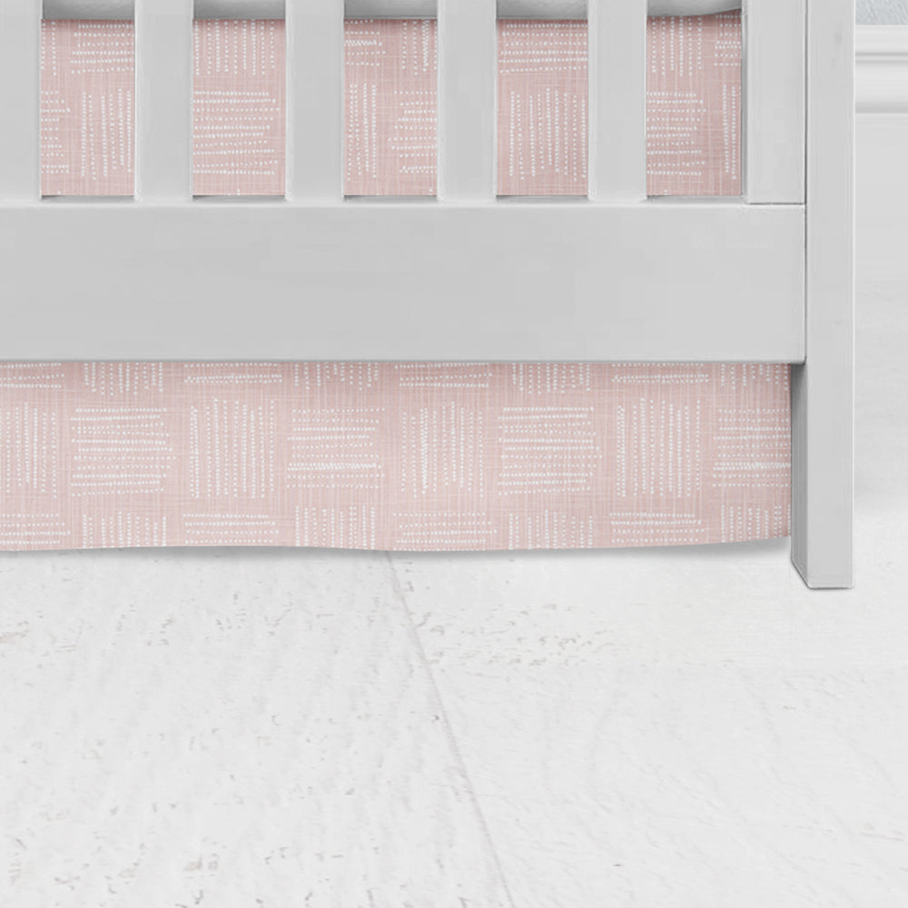 Brave Blush Flat Panel Crib Skirt
